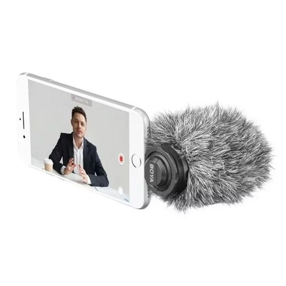 MICROFONE BOYA PARA IPHONE IPAD BY-DM200