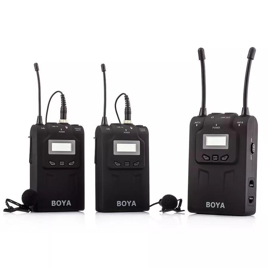 Microfone de Lapela Boya BY-WM8-PRO-K2 2 transmissores e 1 receptor