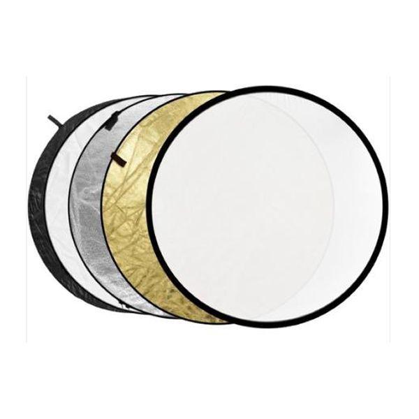 Rebatedor Circular 5x1 110cm Refletor Difusor Com Case