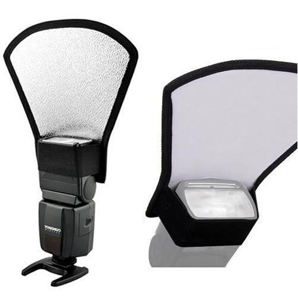 Rebatedor para flash prata e branco