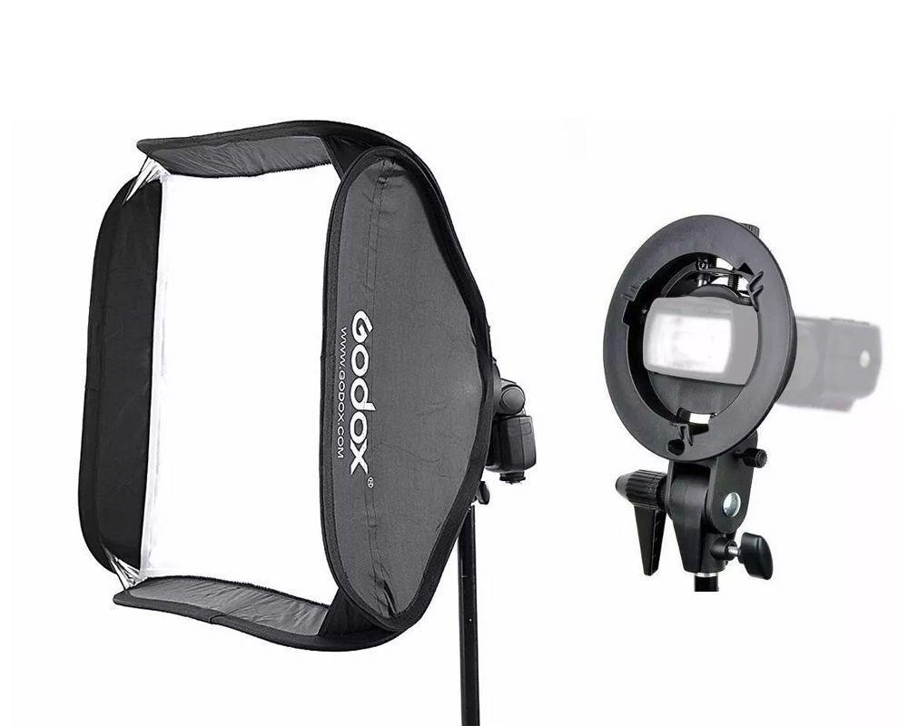 Softbox de 60x60cm para Flash Speedlite com Suporte GODOX