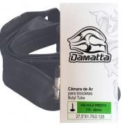 CAMARA DE AR DE BORRACHA SINTETICA DAMATTA (BUTYL) - ARO 27,5 1.75/2.125 COM VALVULA F/V 48MM
