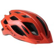 CAPACETE CICLISMO FIRST FLUIG LED C/ VISEIRA - LARANJA