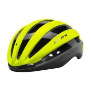 CAPACETE CICLISMO MTB SPEED HIGH ONE WIND AERO C/ LED - VERDE NEON / PRETO