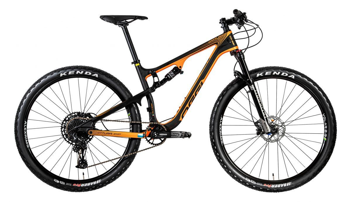BICICLETA MTB ARO 29 OGGI CATTURA SPORT SX 12V 2020 - PRETO/LARANJA