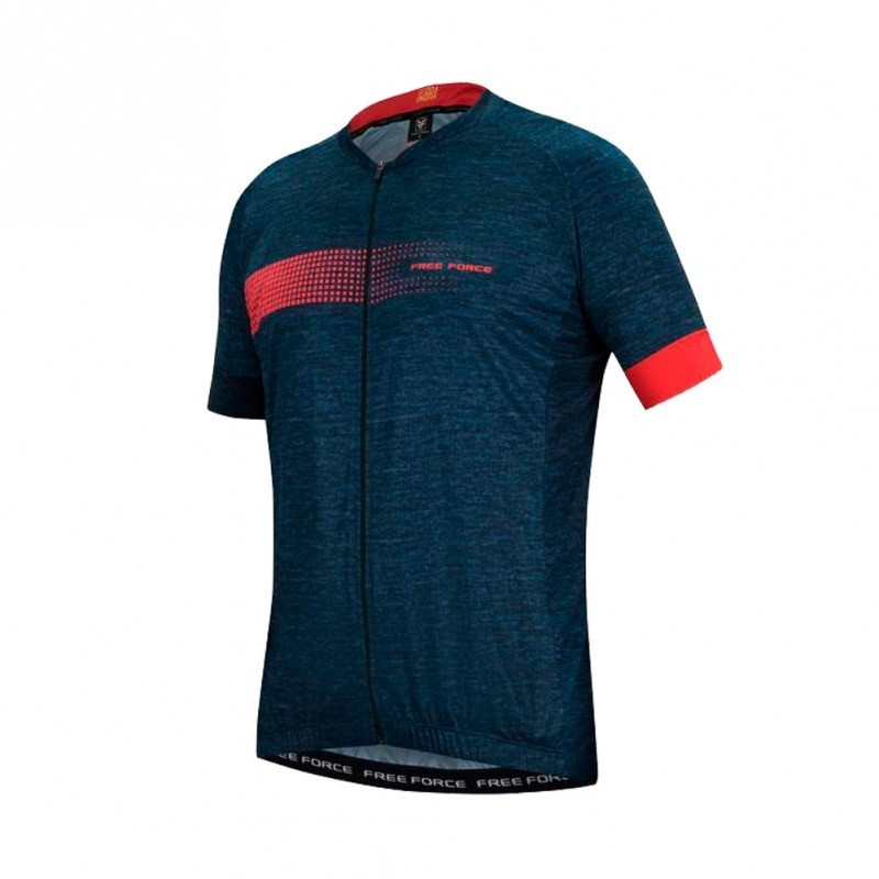 CAMISA CICLISMO FREE FORCE SPORT BIT  - AZUL ESCURO