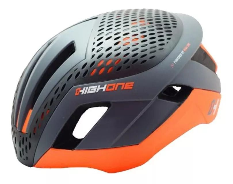 CAPACETE CICLISMO HIGH ONE PRO SPACE LM-TT30 - CINZA/LARANJA