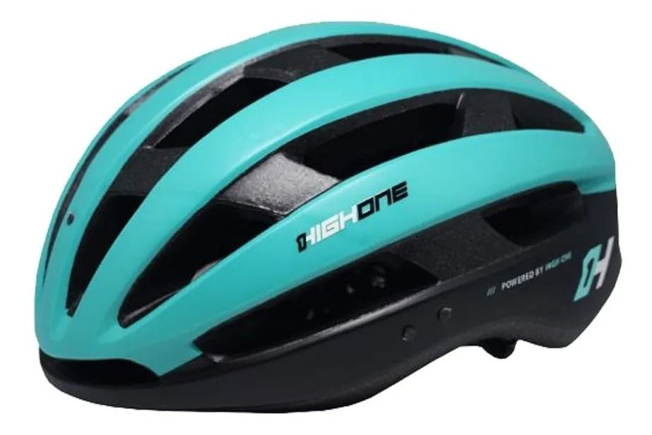 CAPACETE CICLISMO MTB SPEED HIGH ONE WIND AERO C/ LED - AZUL / PRETO