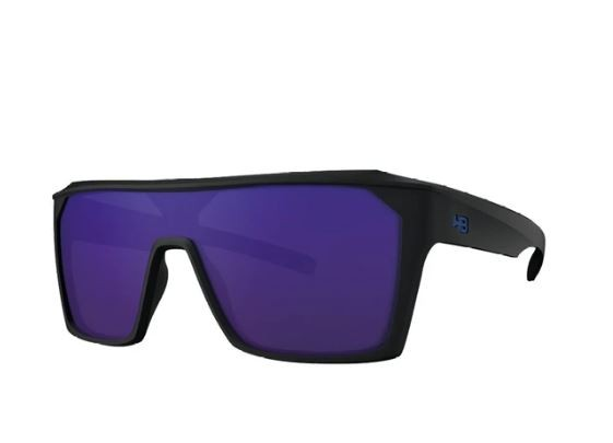 OCULOS CICLISMO HB CARVIN 2.0 - MATTE BLACK BLUE CHROME