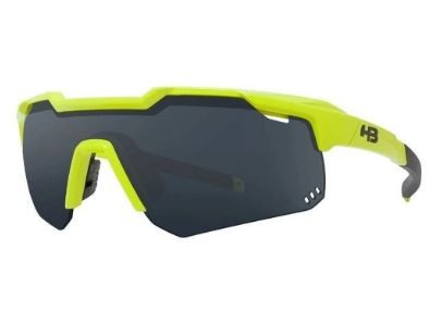 OCULOS CICLISMO HB SHIELD COMPACT MOUNTAIN - NEON YELLOW GRAY
