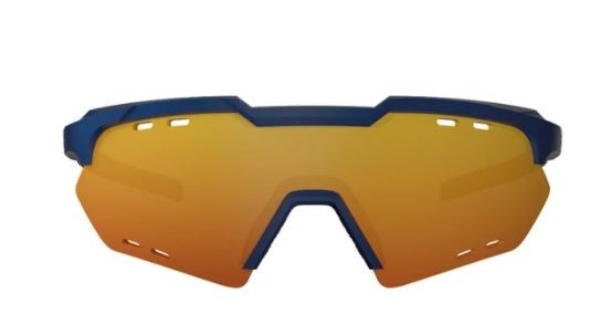 OCULOS CICLISMO HB SHIELD COMPACT ROAD - MATTE NAVY MULTI RED
