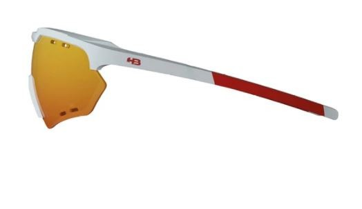 OCULOS CICLISMO HB SHIELD COMPACT ROAD - PEARLED WHITE MULTI RED
