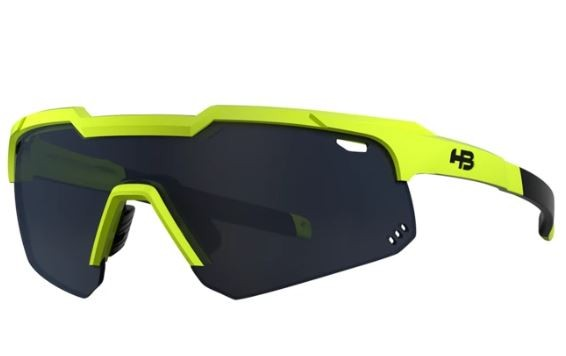 OCULOS CICLISMO HB SHIELD EVO MOUNTAIN  - NEON YELLOW GRAY
