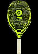 Raquete de Beach Tennis Turquoise Black Death - Challenge - Acid Green