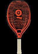 Raquete de Beach Tennis Turquoise Black Death - Challenge - Orange