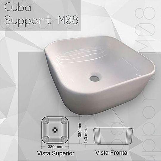 CUBA APOIO QUADRADA M08 BRANCO