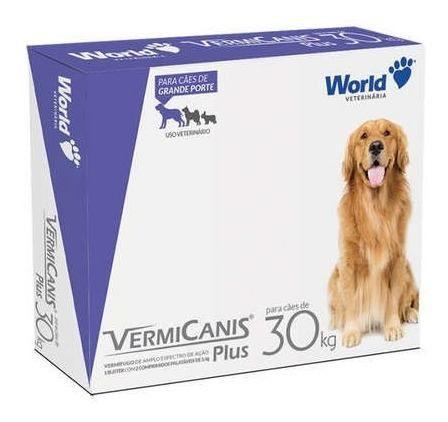 Vermifugo World Veterinaria Vermicanis Plus Para Cães De 30 Kg