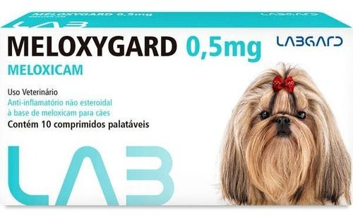 Meloxygard Labgard 0.5Mg Para Cães Com 10 Comprimidos
