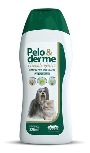 Shampoo Pelo E Derme Hipoalergênico 320 Ml Vetnil