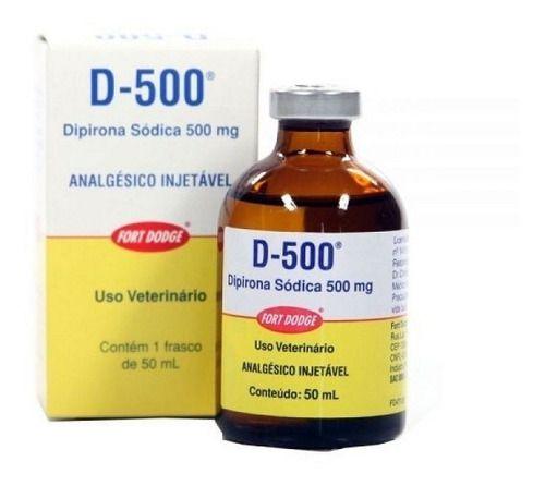 D-500 Dipirona Injetável P/ Animais 50Ml Zoetis