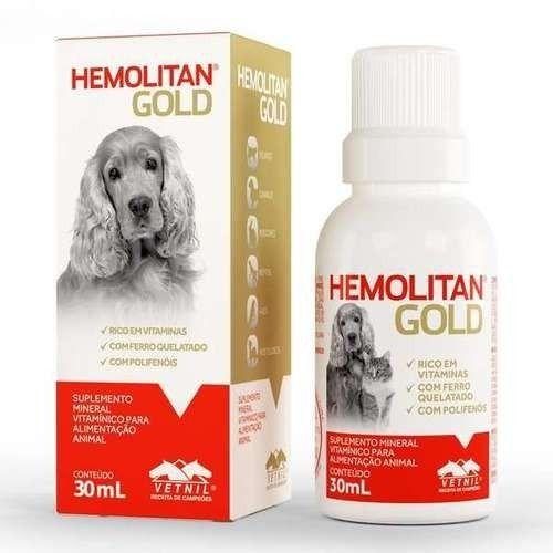 Suplemento Hemolitan Pet Gotas Gold