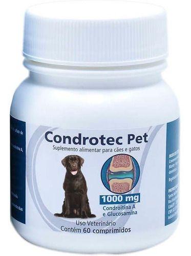 Condrotec Pet 1000 Mg Suplemento Articular Cães E Gatos