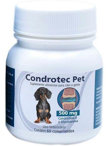 Condrotec Pet 500 Mg Suplemento Articular Cães E Gatos
