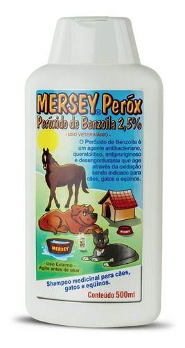 Shampoo Mersey Peróx Peróxido De Benzoíla 2,5% - 500 Ml