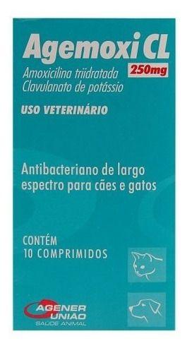 Agemoxi Cl 250 Mg 10 Comprimidos