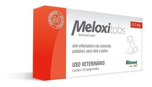 Anti-Inflamatório Meloxitabs Biovet 0,5 Mg - 10 Comprimidos