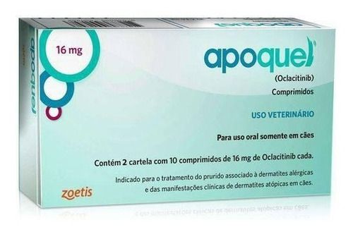 Apoquel 16 Mg Zoetis Para Cães 20 Comprimidos