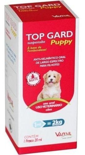 Top Gard Puppy Vermifugo Suspensão Cães 20 Ml