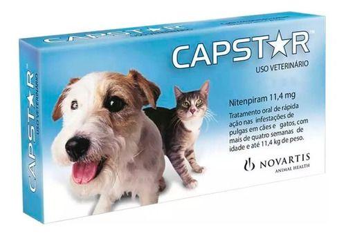 Capstar Cães E Gatos 11,4 Mg Até 11 Kg - 6 Comprimidos
