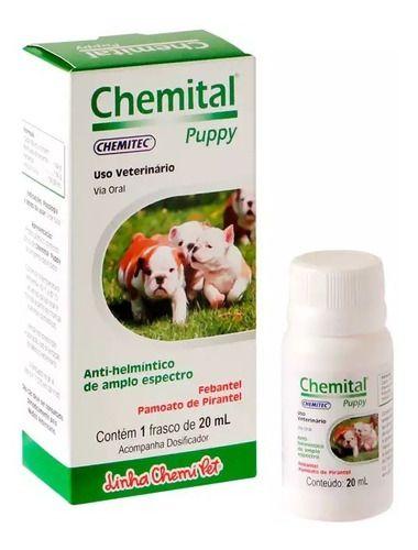 Vermifigo Para Caes Chemital Puppy 20 Ml