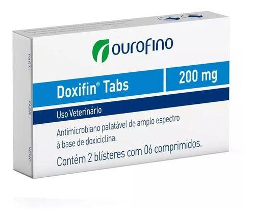 Doxifin Tabs Ourofino 200 Mg Blister Avulso C/ 6 Comprimidos