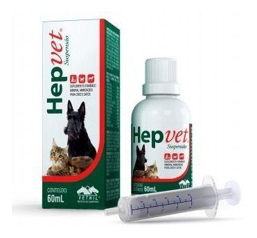 Hepvet Suspensão Suplemento Cães E Gatos  60 Ml - Vetnil