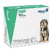 Vermifugo World Veterinaria Vermicanis Plus Para Cães De 10 Kg