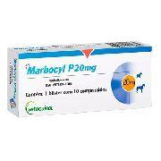 Marbocyl P 20Mg Para Cães 10 Comprimidos