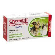 Chemitril 50 Mg P/ Cães E Gatos C/10 Comprimidos - Chemitec