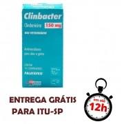 Antimicrobiano Clinbacter 150Mg Cão Gato 14 Comp