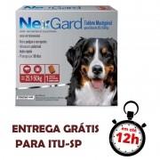 Antipulgas E Carrapatos Nexgard136 Mg Para Cães De 25.1 A 50 Kg - 01 Unidade