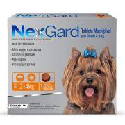 Antipulgas E Carrapatos Nexgard 11.3 Mg Para Cães De 2 A 4 Kg - 01 Unidade