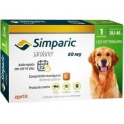 Antipulgas E Carrapatos Simparic 20,1 A 40 Kg (80 Mg) 1 Uni