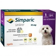 Antipulgas E Carrapatos Simparic 2,6 A 5,0 Kg (10 Mg) 1 Uni