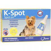 Antipulgas E Carrapatos Syntec K-Spot 2 Ml Para Cães Até 7.5 Kg