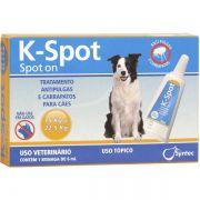 Antipulgas E Carrapatos Syntec K-Spot 6 Ml Para Cães De 15 Kg A 22.5 Kg