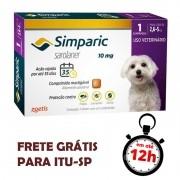 Antipulgas Simparic 10 Mg Para Cães 2.6 A 5 Kg 01 Unidade