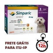 Antipulgas Simparic 10 Mg Para Cães 2.6 A 5 Kg 03 Unidades