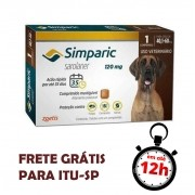Antipulgas Simparic 120 Mg Para Cães 40.1 A 60 Kg 01 Unidade