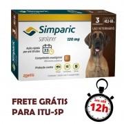 Antipulgas Simparic 120 Mg Para Cães 40.1 A 60 Kg 03 Unidades